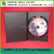 Cheap 14MM PP Plastic Black Replication Multi DVD Multi Case