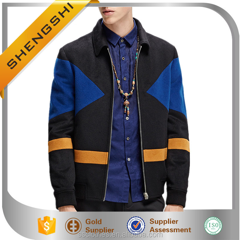 Autumn fancy design personalized man classic city wool jacket