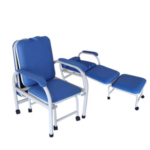 Hot sales  hospital leather accompany sleeping chair