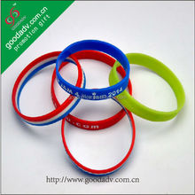 Sell high quality customized fundraising event printing basketball silicone wristband