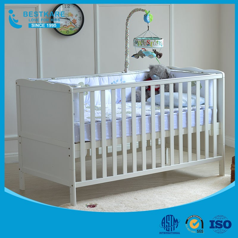 European durable baby bed baby toddler cot baby crib with mattress