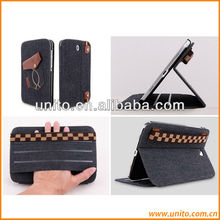 Jeans pu stand leather case for samsung galaxy note 8.0