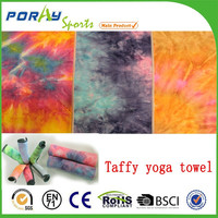 100% Microfiber Non Skid tie dye yoga towels