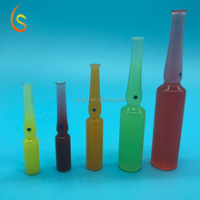 Medical injection clear glass vial for sample