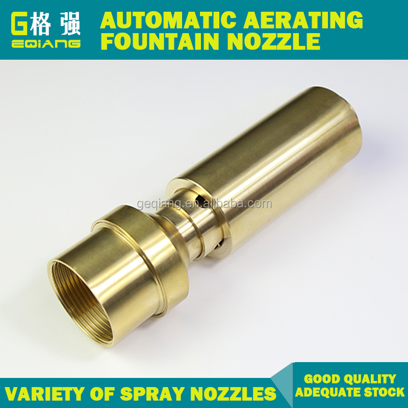"1"" 1.5"" 2"" Large Size Brass Automatic Aerating Water Fountain Nozzle Design"