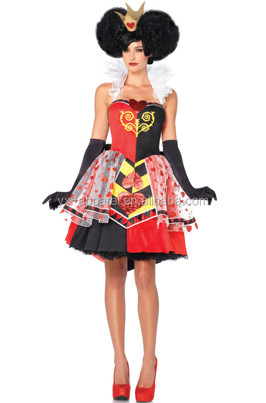 Costume queen of hearts costume fancy dress costume product on alibaba