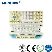 Customized china manufacturing durable silicone rubber computer keyboard