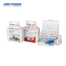 OP manufacture FDA CE ISO approved 23pcs PP promotional gift kit with paper sleeve small first aid box