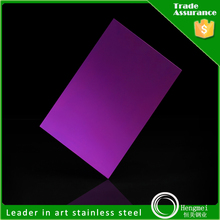 no 8 mirror finish stainless steel sheet for decoration