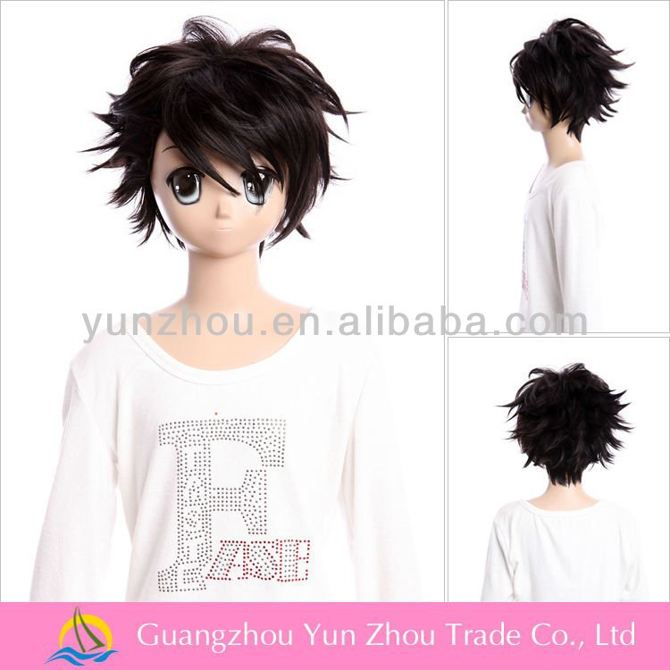 Wholesale quality Synthetic japanese manga cartoon Cosplay Naruto Wig