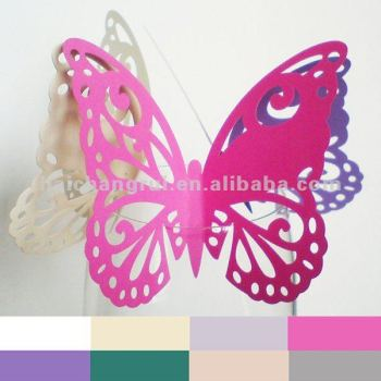 Laser butterfly indoor decorations with low price