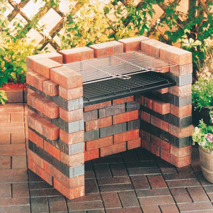 built in bricks DIY bbq grill set bbq charcoal briquette brick barbecue grill with cooking grid