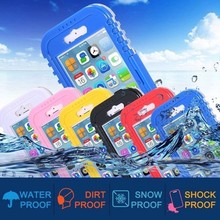 wholesale Plastic Hard PVC Cell phone Shockproof Smartphone Universal Waterproof Phone Case for iphone 5 6 6S waterproof cover