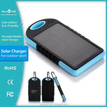 Hot selling!!Suit for outdoor sports portable solar battery charger for emerancy charger with 12000mAh