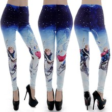 M3329 HOT Fashion hiphop Deer Princess Print Legging Pants