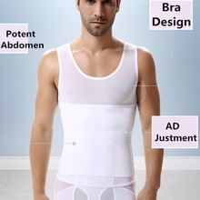 High quality Cheap Zipper Men Body Shaper Slimming Clothes