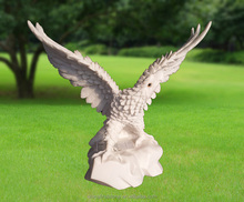 MAB577 White Marble Garden Statues Eagle