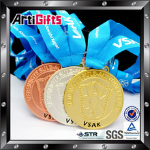 2015 newest medal style custom military medal ribbon