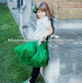 Soild color excellent quality baby girls fluffly pettiskirt girls party fancy tulle skirt