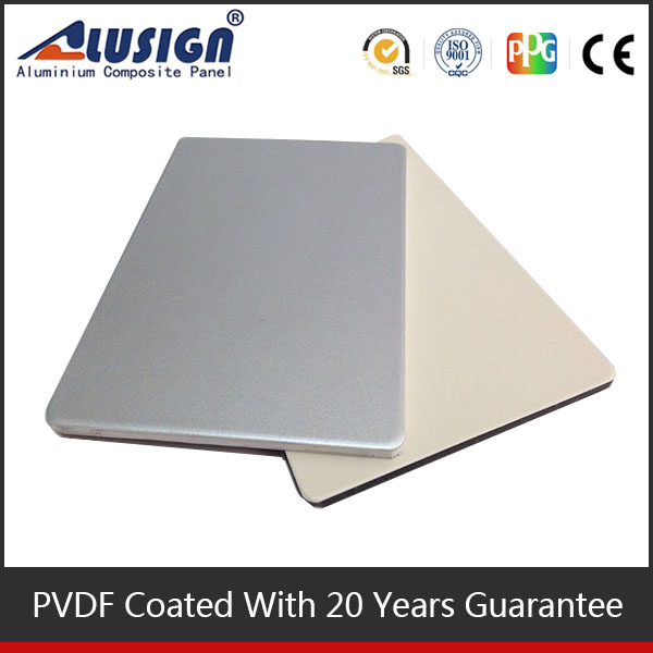 Alusign self-cleaning NANO PVDF coated aluminium composite facade panel for kitchen cabinets