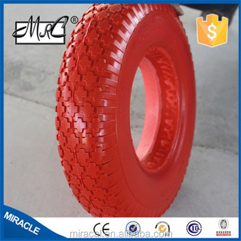 350-8 Pu foam tires for wheelbarrow and hand truck