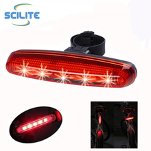5 Red led bicycle light Mountain Bike Accessories LED flash light for Bicycle Tail Light