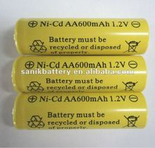 Nicd rechargeable battery AA 1.2V cordless phone batteries