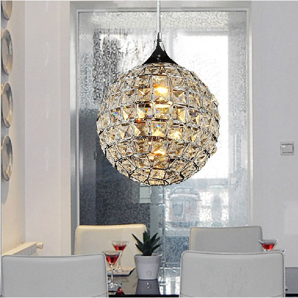 crystal globe lighting crystal ball led pendant lamp