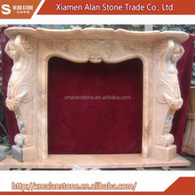 Popular sale french style carved marble antique fireplace mantel