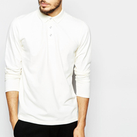 Fashion high quality apperal factory wholesale men clothes white plain men's polo t shirt
