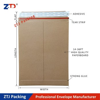 Factory price paper packaging mailers brown kraft envelopes