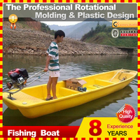 New design rotaional molding PE material fishing boat