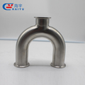 Sanitary clamped U type elbow tee reducer pipe fitting