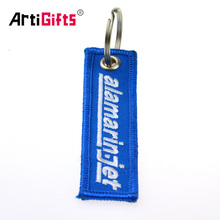 Wholesale cheap custom embroidered remove keychain