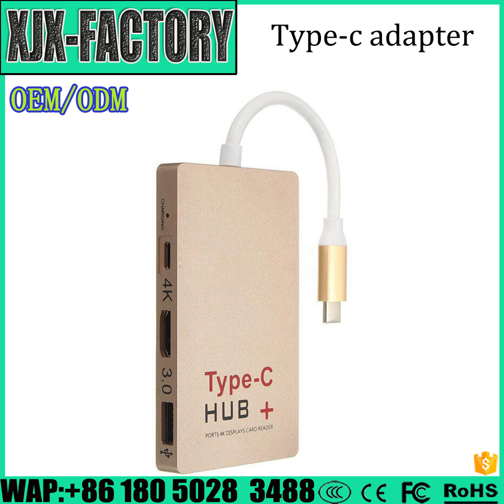 Wholesale Cheapest Price 4K HDMI Adapter type c usb hub 5 in 1 cable for macbook