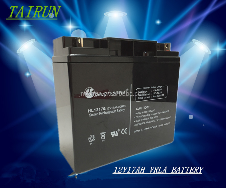rechargeable maintenance free storage battery 12v 17AH gel batteries