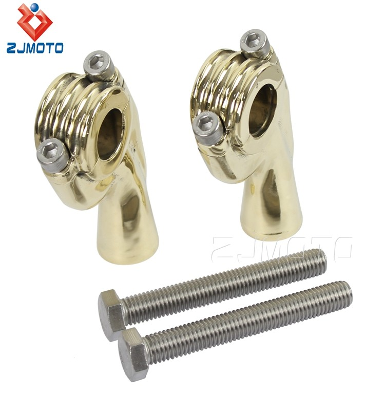 Wholesale Chinese Manufacturer Aluminum Hole Diameter 7/8'' 22.2mm Polish Handlebar Riser Clamp