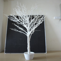 SJRS-05 artificial tree trunk no leaves wedding table tree centerpieces white branch tree