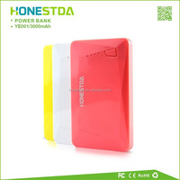 Latest 3000mAh Ultra thin credit card Power Banks for Smartphones with Polymer Battery
