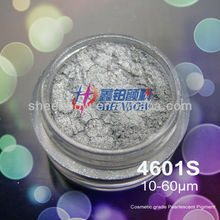 Cosmetic mica pigment powder for nail polish
