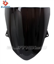 ZJMOTO Racing ZX 6R 2009 2010 Windscreen Black 2009-2010 ZX 6R motorcycle Windscreen ZJMOTO