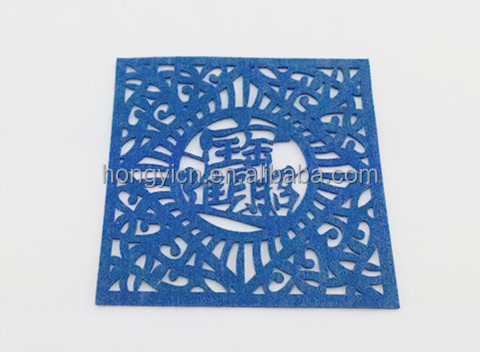 blue color carving place mat,Table Setting Placemat