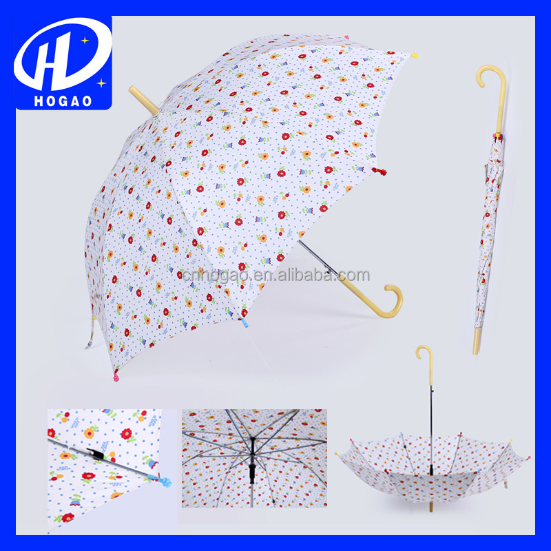 Flower Print With Windproof Trump Sell Bike Umbrella