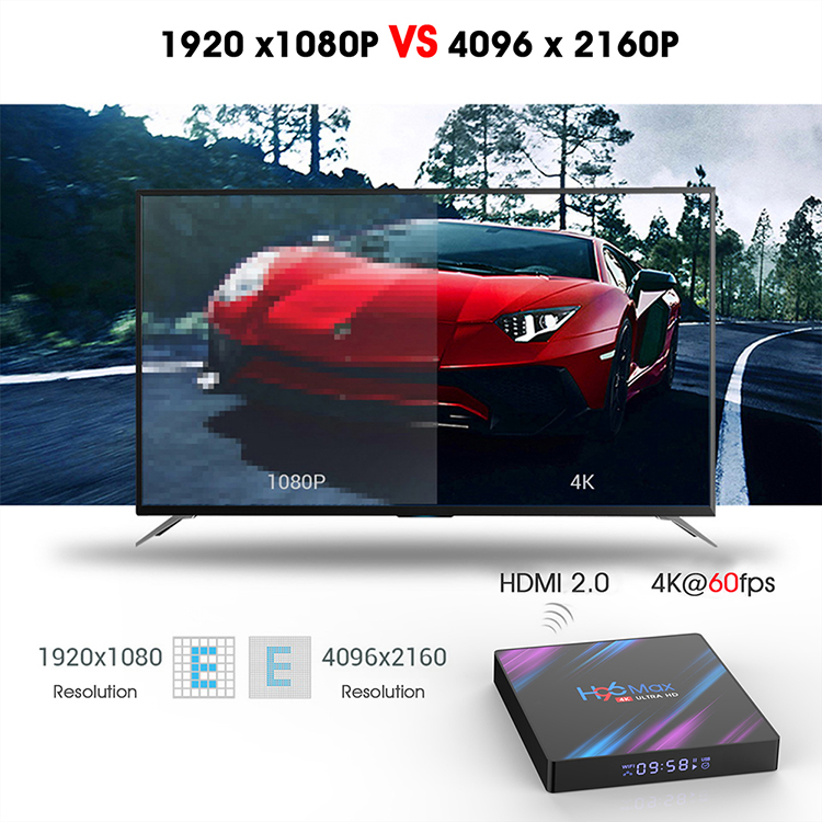 H96 Max 3318 4GB 32GB HDR10 Dual Wifi H96 Max Android 9.0 TV Box