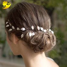 Wholesale alibaba wedding accessory fancy hairbands feather headdress tiara
