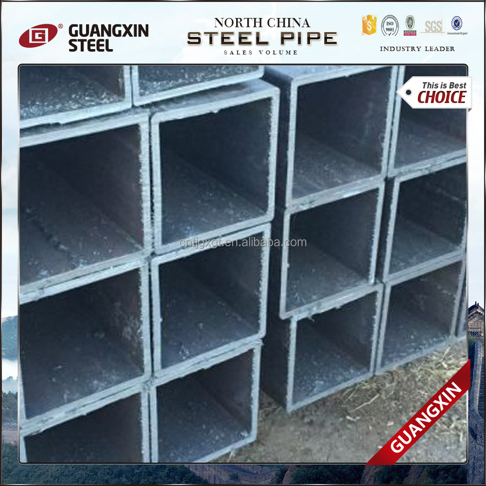welded black ms square hollow section used for bulding from China