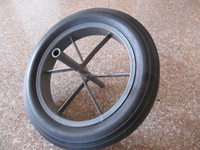 15 inch solid rubber wheel for wheelbarrows small size