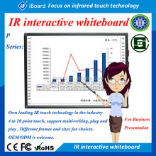 Infra-Red touch technology Interactive Whiteboard with a low glare porcelain enamel steel whiteboard