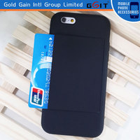 For Apple For iPhone 5 TPU/PC Black Hard Case with ID Credit Card Holder