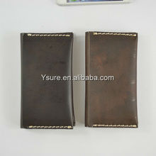 Universal phone wallet style genuine leather case for iphone5/iphone4 4s